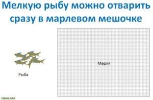 Варка мелкой рыбы для рыбного супа