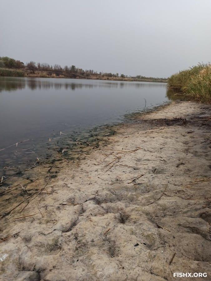 Ультралайт на обмелевшей реке