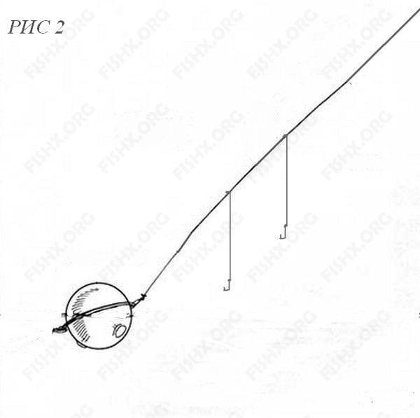 Оснастка с прозрачным шариком - глухой патерностер