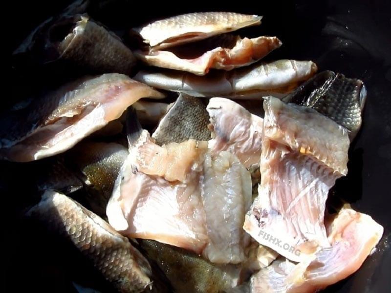 Рыба перед копчением