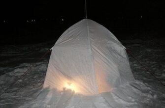 Ночлег на зимней рыбалке