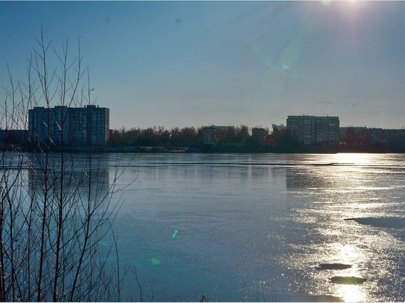 Городское водохранилище в районе микрорайона Ширяйково, 11 ноября