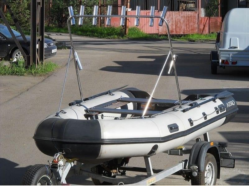 Самодельная тарга на лодке
