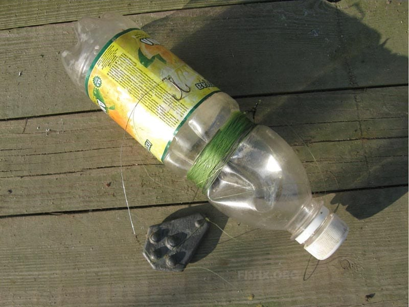 Донка-бутылка на налима