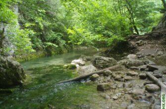 Горная река в Крыму