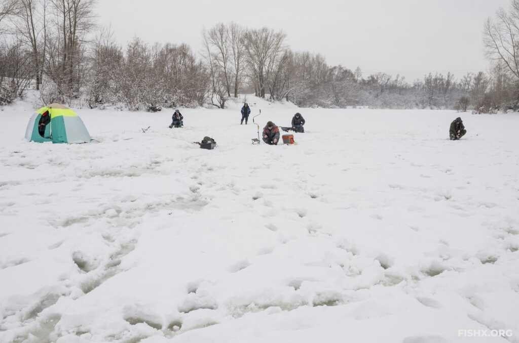 Зимняя ловля безмотылкой