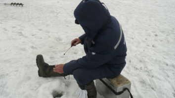 Ловля леща зимой на черта