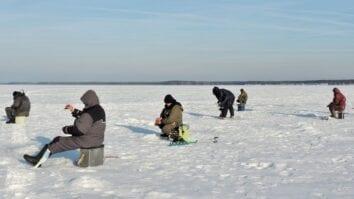 Ловля подтягом зимой