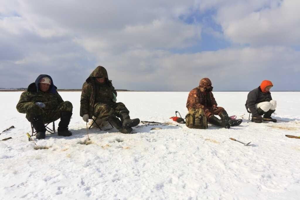 Ловля малым подтягом со льда