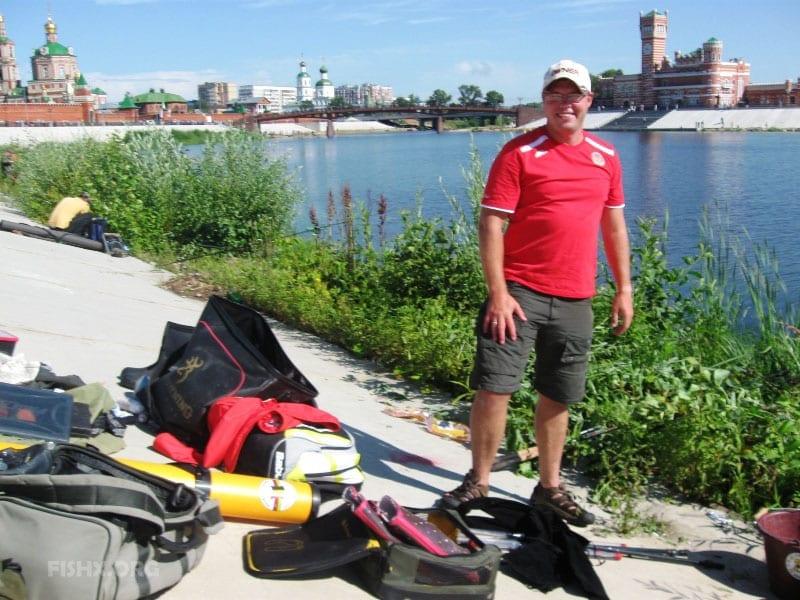 Алексей Фадеев на реке Малая Кокшага