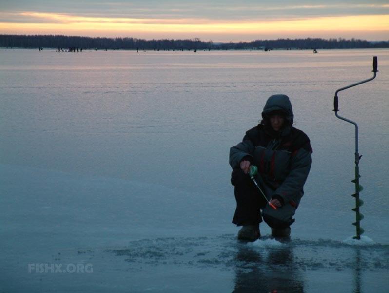Отчёт о зимней рыбалке на Волге