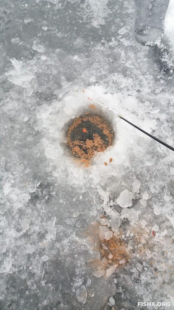 Ловля карася зимой на поплавочную удочку