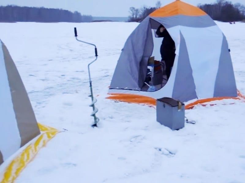 Ночная ловля леща зимой в палатке