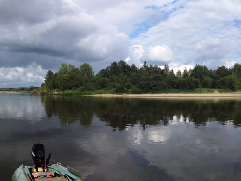 Рыболовное место на рекеВетлуга у села Дмитриевское