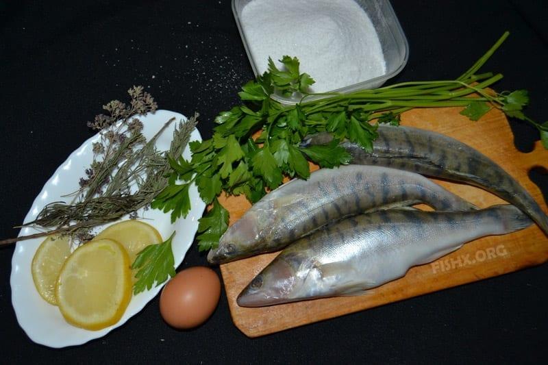 Ингредиенты для приготовления судака