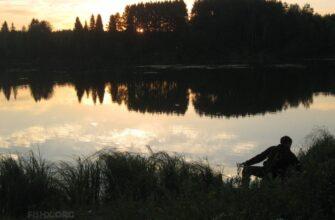 Рыбалка на сельском пруду