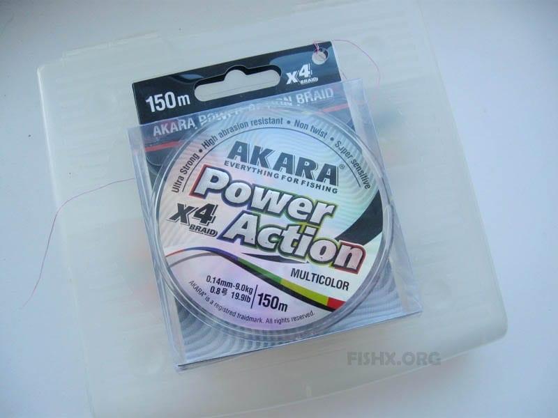 Шнур Akara Power Action X-4 Multicolor