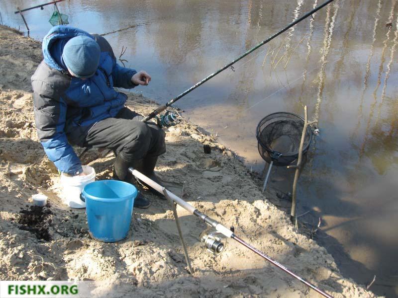 Ловля на фидер среди зимы