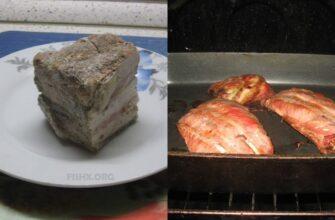 Копчёные свиные рёбрышки и сало