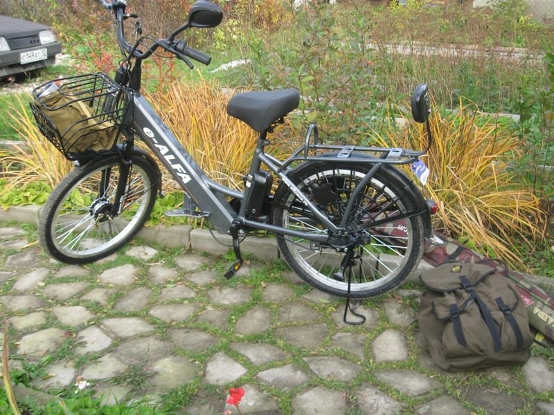 Электровелосипед для рыбака