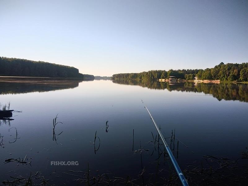 Болонская удочка, рыбалка на реке Нудоль