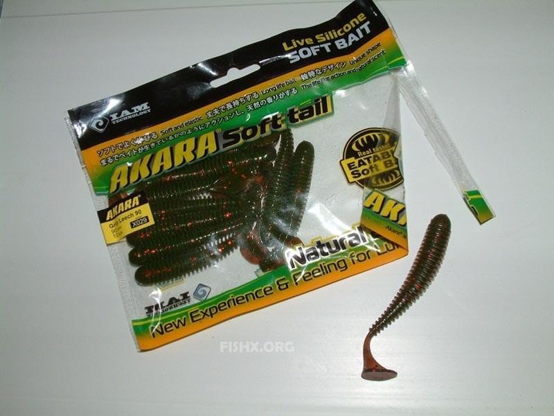 Рипер Akara Eatable Grip Leech 90 для ловли осеннего хищника
