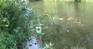 Ловля на фидер 3,9 м. на малой реке