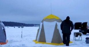 Палатка для ловли зимой