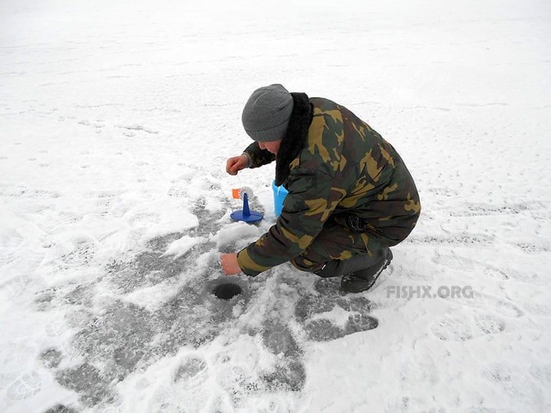 Рыбалка Черкасовском пруду зимой
