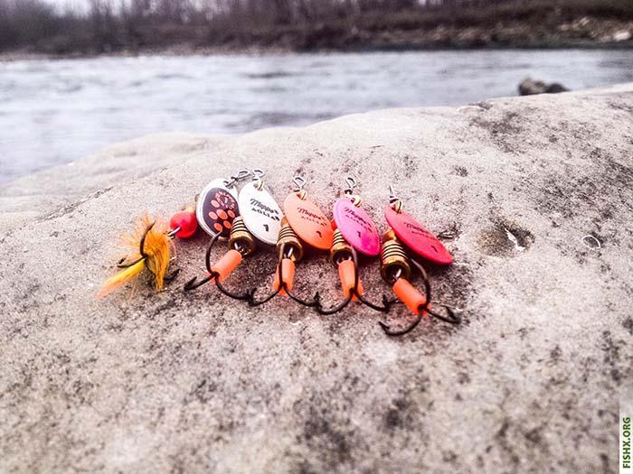 Вращающиеся блесны для ловли ручьевой форели
