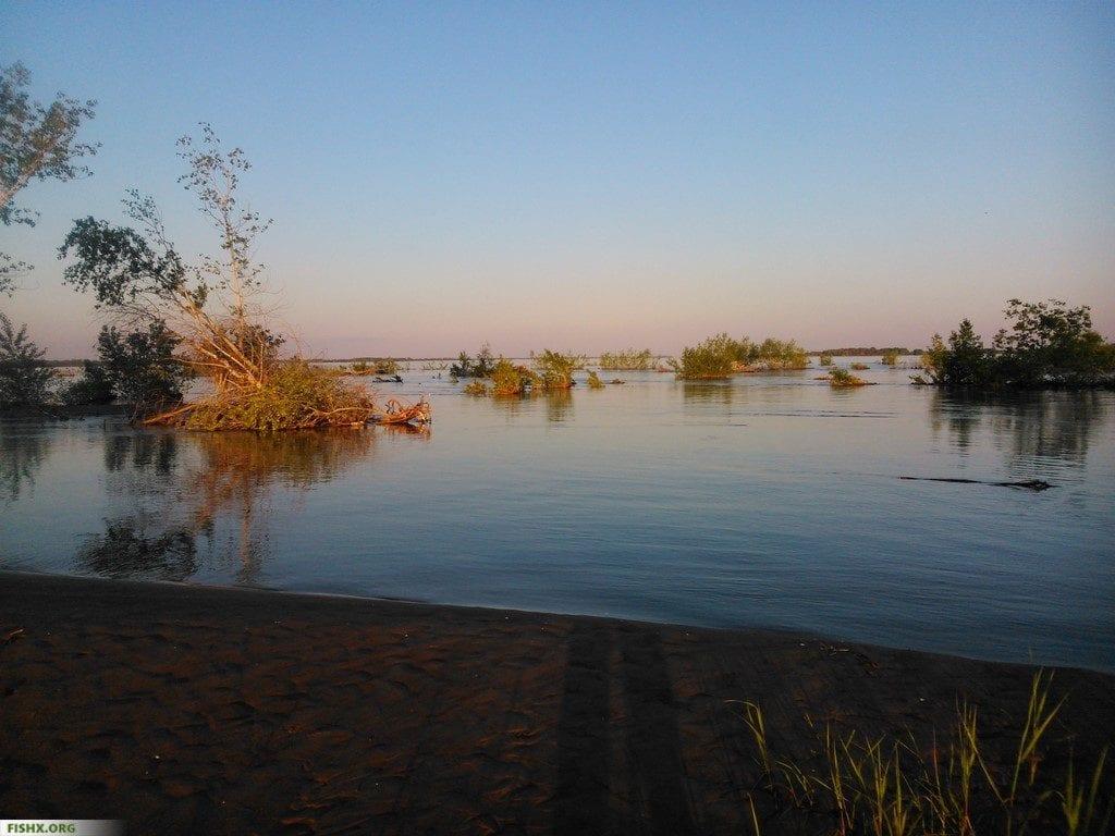 Разлив реки Волга весной